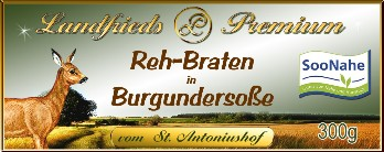 Rehbraten in Burgundersoße